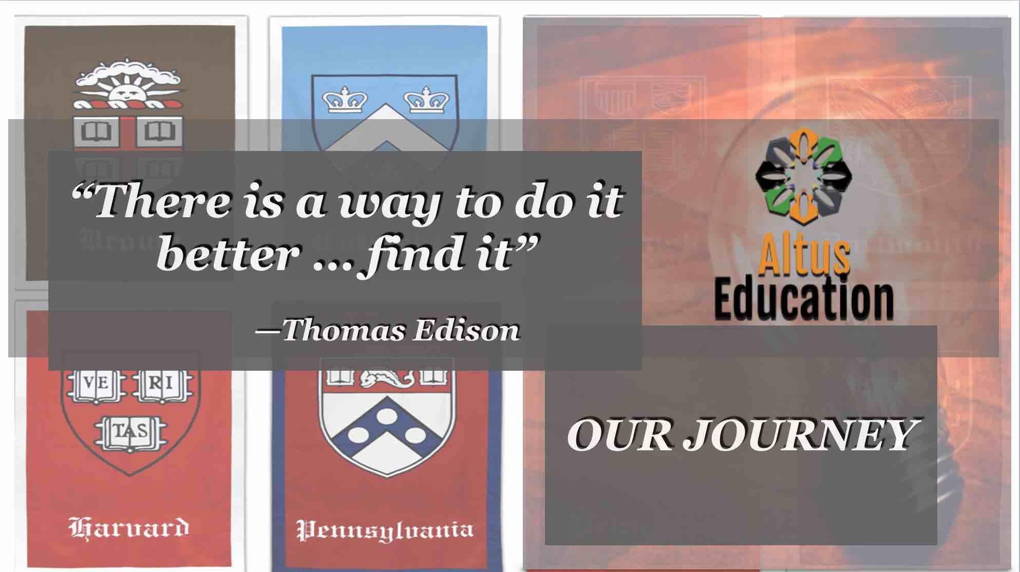 Altus Education - Our Journey