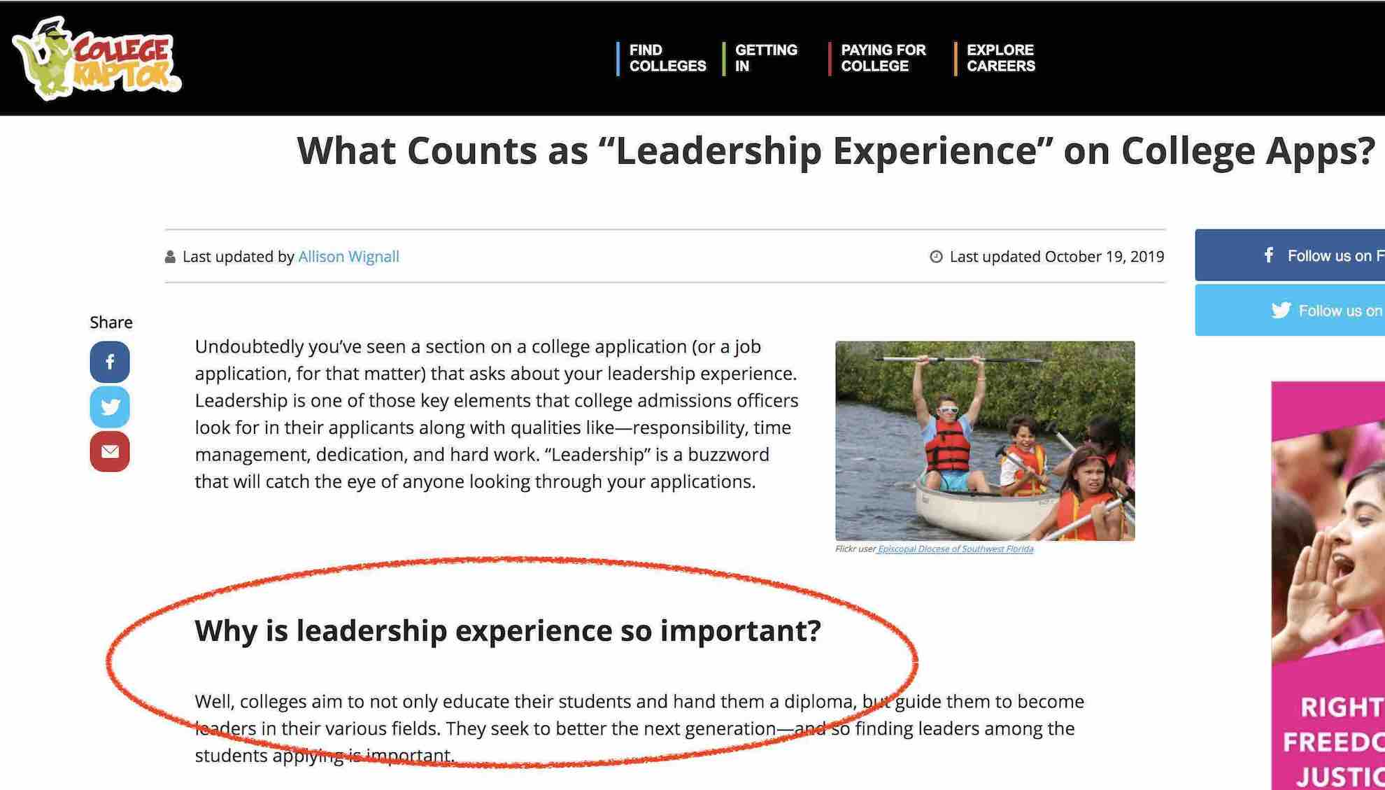 Leadership is sought after